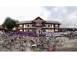 ข่าวประชาสัมพันธ์ : คณะครูและนักเรียนโรงเรียนสาร่วมกิจกรรมปั่นจักรยานเทิดพระเกียรติ